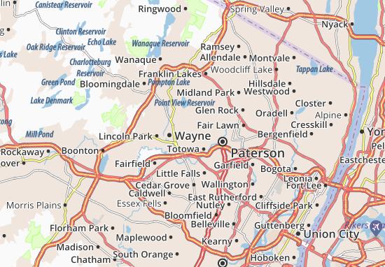 Karte Stadtplan Wayne