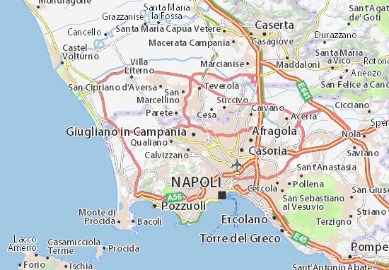 La Cartina Geografica Della Campania.Mappa Michelin Giugliano In Campania Pinatina Di Giugliano In Campania Viamichelin