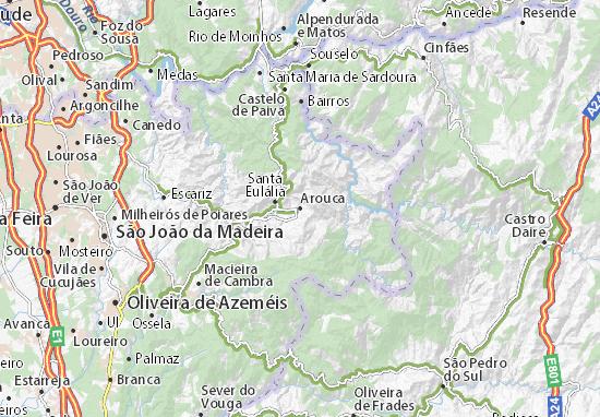 arouca mapa Mapa Arouca   plano Arouca  ViaMichelin arouca mapa