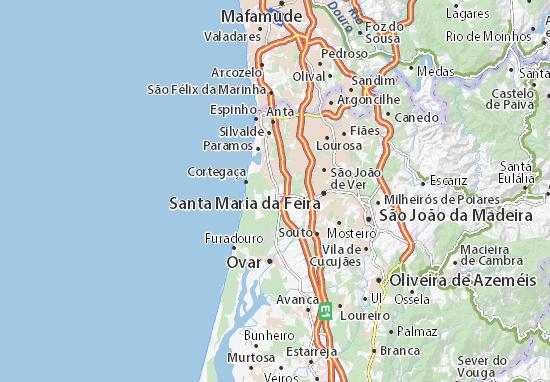 estarreja mapa Mapa Maceda   plano Maceda  ViaMichelin estarreja mapa