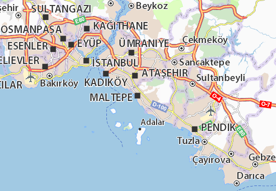 Kaart Plattegrond Maltepe