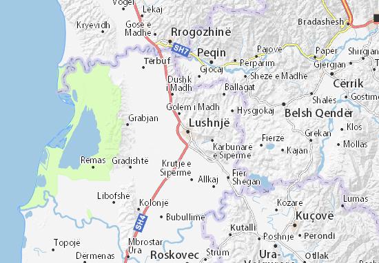 Mapa Plano Lushnjë