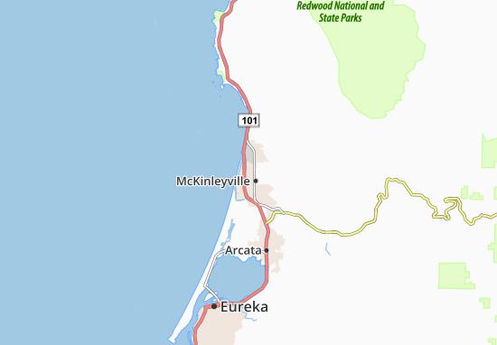 McKinleyville Map