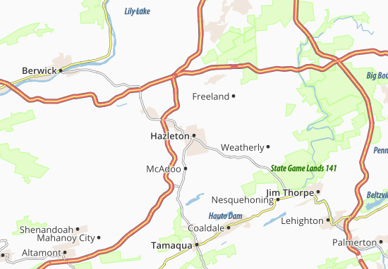 Hazleton Map