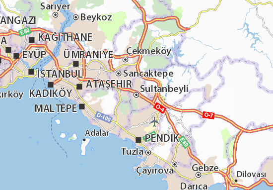 Kaart Plattegrond Sultanbeyli