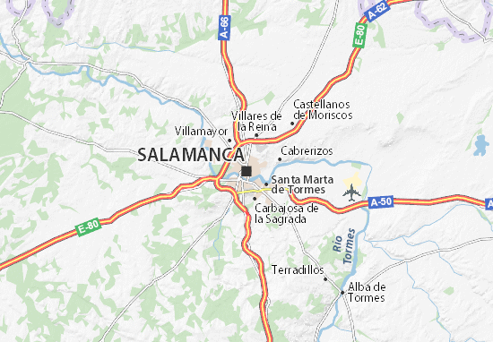 salamanca mapa Mapa Salamanca   plano Salamanca   ViaMichelin salamanca mapa