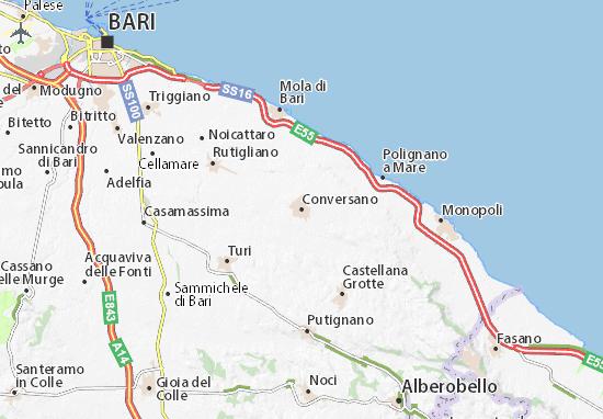 Cartina Puglia Noci.Mappa Michelin Conversano Pinatina Di Conversano Viamichelin