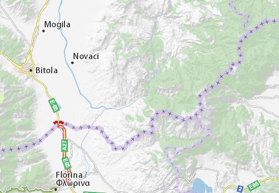 Skočivir Map