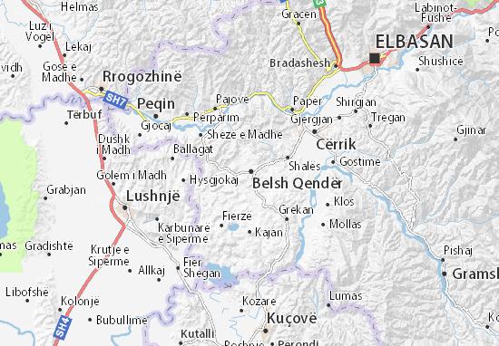 Mapa Plano Belsh Qendër
