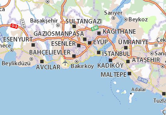 Mapa Plano Zeytinburnu