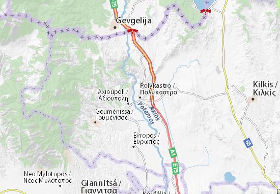 Polýkastro Map