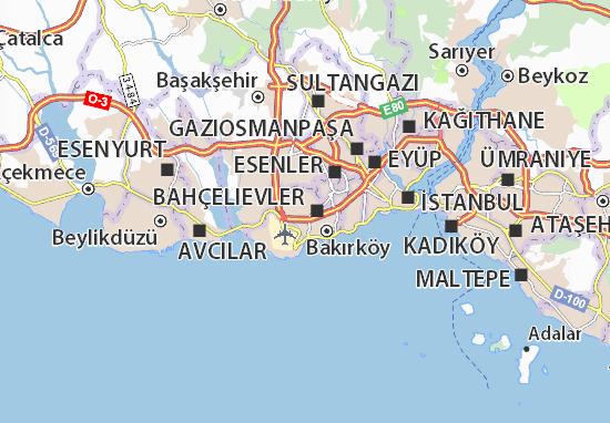 Şirinevler Map