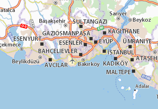 Kaart Plattegrond Siyavuşpaşa