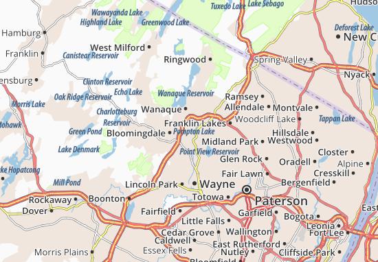 Carte-Plan Pompton Lakes
