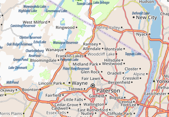 Franklin Lakes Map