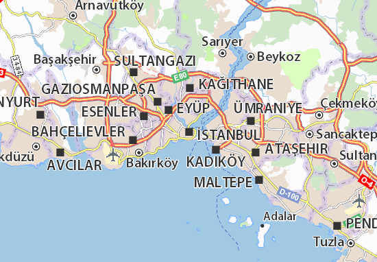Map of Istanbul Michelin Istanbul map ViaMichelin – Istanbul Tourist Map