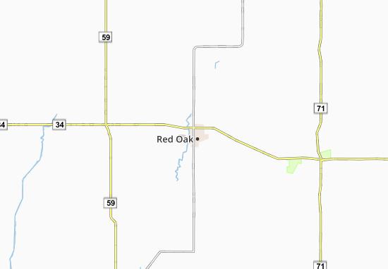 Red Oak Map