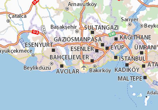 İnönü Map