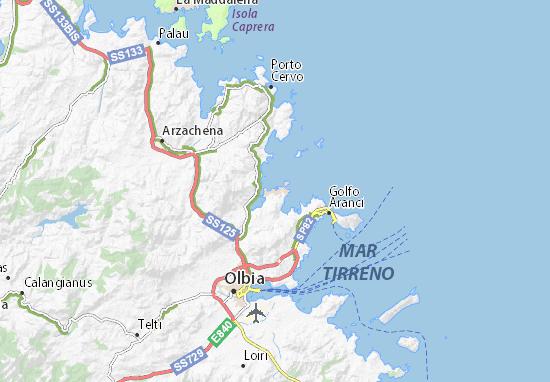 Palau Sardegna Cartina.Mappa Michelin Porto Rotondo Pinatina Di Porto Rotondo Viamichelin