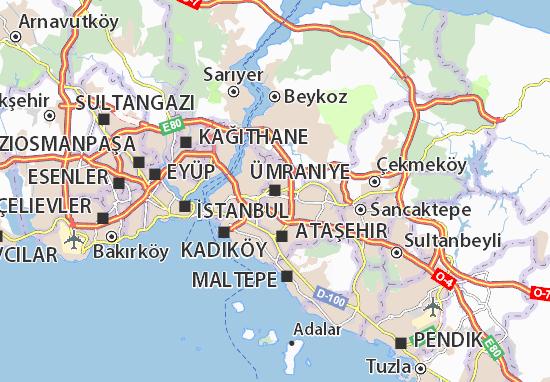 Kaart Plattegrond Ümraniye