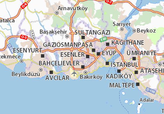 Mapa Plano Bağcılar