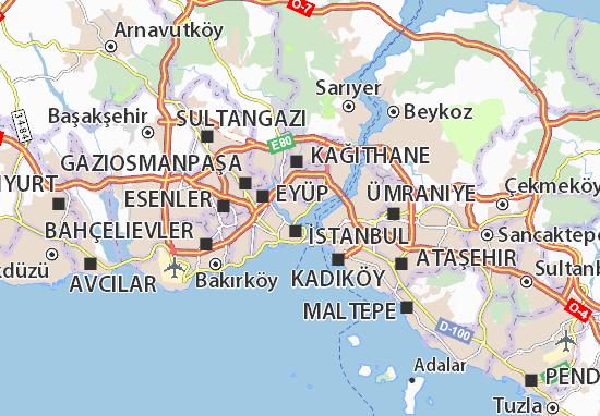Mapa Plano Beyoğlu
