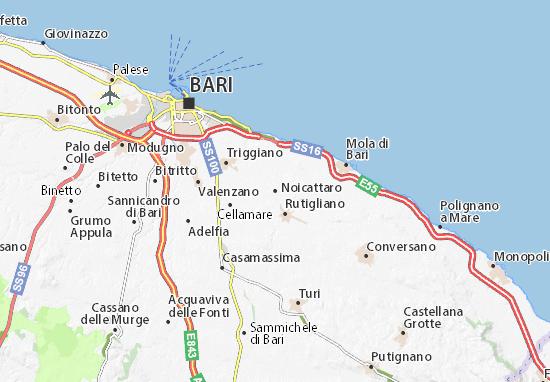 Cartina Politica Puglia Dettagliata.Mappa Michelin Noicattaro Pinatina Di Noicattaro Viamichelin