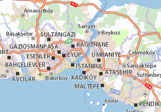 Carte-Plan Beşiktaş