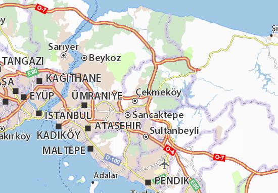 Karte Stadtplan Alemdağ Merkez Viamichelin
