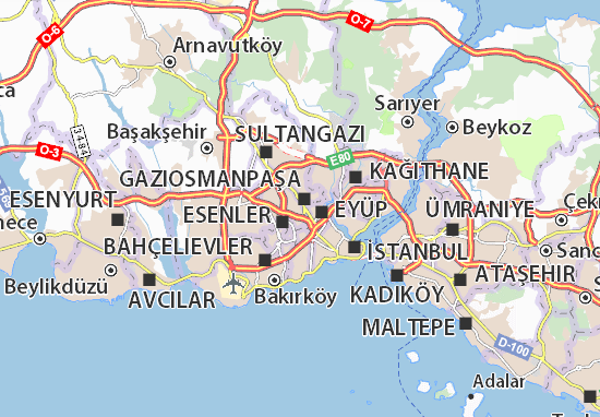 Muratpaşa Map