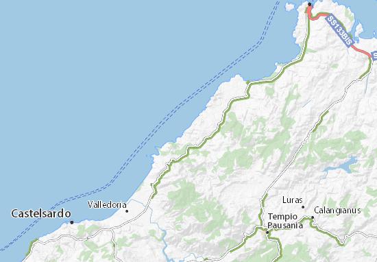 Costa Paradiso Sardegna Cartina Geografica.Mappa Michelin Costa Paradiso Pinatina Di Costa Paradiso Viamichelin