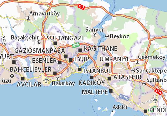 Mapa Plano Şişli