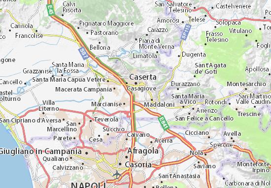 San Nicola la Strada Map