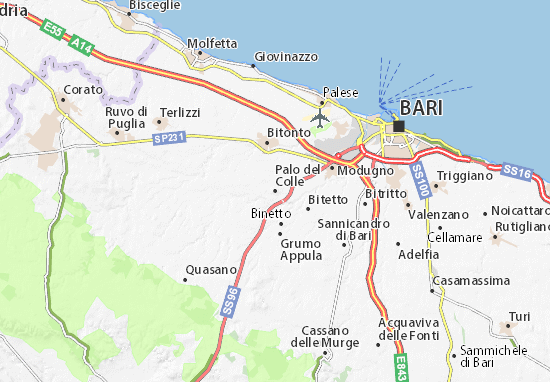 Carte-Plan Palo del Colle