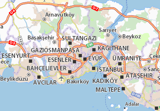 Kaart Plattegrond Gaziosmanpaşa