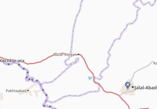 Mapa Plano Bazar-Kurgan