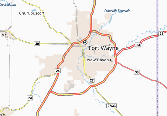 Fort Wayne Map Detailed Maps For The City Of Fort Wayne Viamichelin