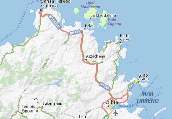 Carte-Plan Arzachena