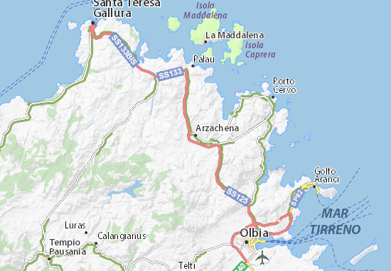 Arzachena Map