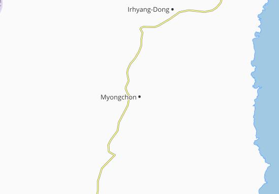 Kaart Plattegrond Myongchon