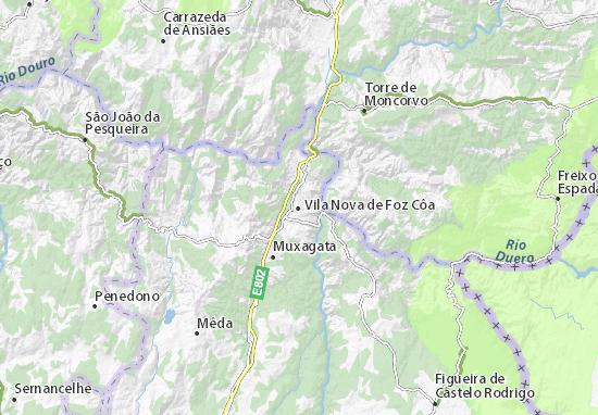 Vila Nova de Foz Côa Map