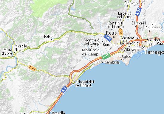 Carte Plan Mont Roig Del Camp