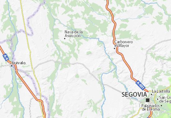 Ortigosa de Pestaño Map
