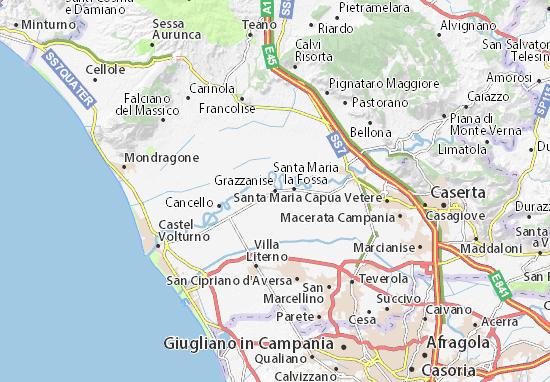 Grazzanise Map