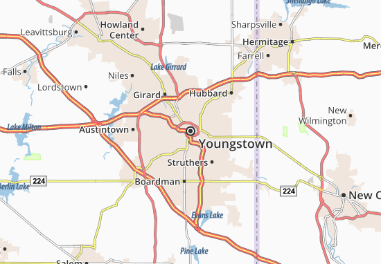 Youngstown Map