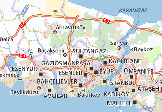 Kaart Plattegrond Sultangazi