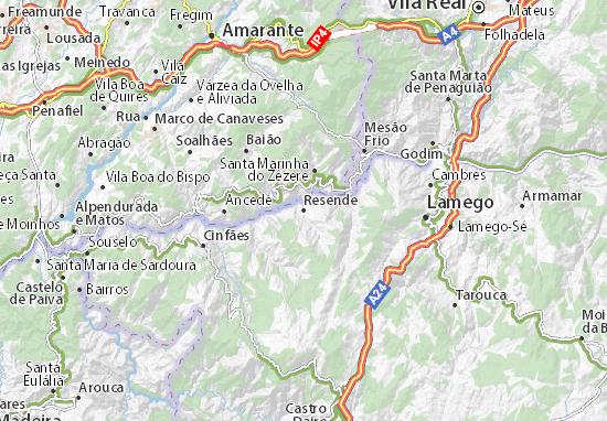 mapa de resende portugal Mapa Resende   plano Resende  ViaMichelin mapa de resende portugal