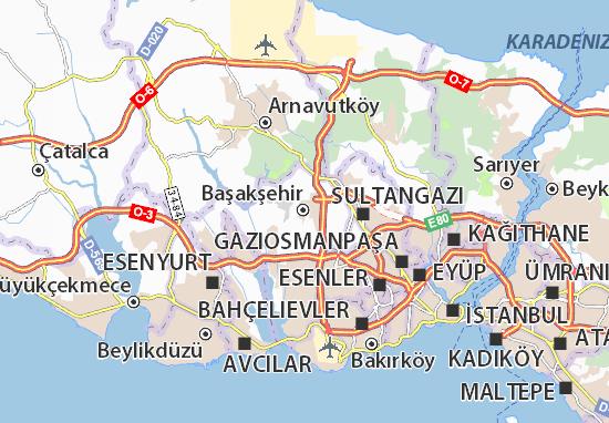 Kaart Plattegrond Başakşehir