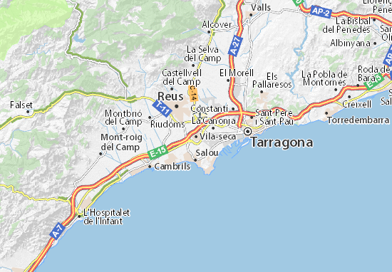Mapa Plano Vila-seca