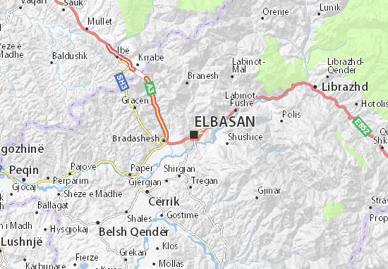 Karte Stadtplan Elbasan